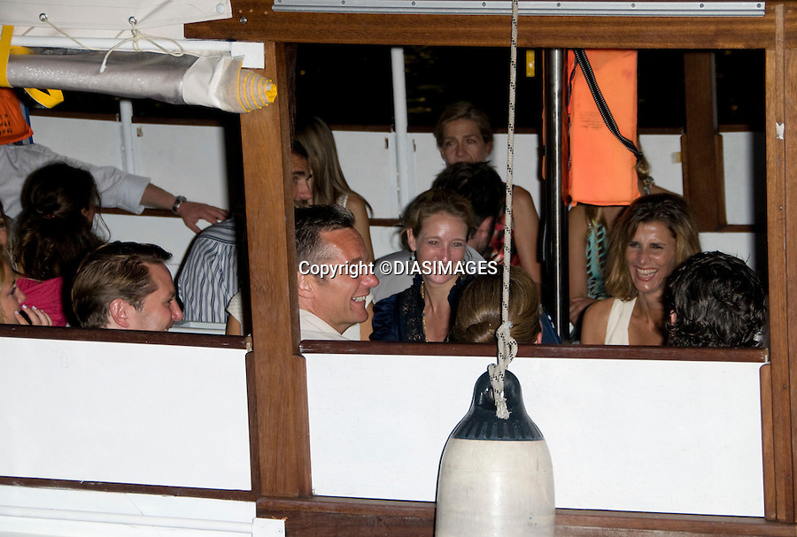 "ROYAL GUESTS TAKE WATER-TAXI AFTER PARTY.PRINCE NIKOLAOS AND TATIANA BLATNIK PRE-WEDDING PARTY_.hosted by his parents King Constantine and  Queen Anne Marie at the Poseidonion Grace Hotel, Spetses_24/08/2010.Mandatory Credit Photo: ©DIASIMAGES..**ALL FEES PAYABLE TO: ""NEWSPIX INTERNATIONAL""**..IMMEDIATE CONFIRMATION OF USAGE REQUIRED:.Newspix International, 31 Chinnery Hill, Bishop's Stortford, ENGLAND CM23 3PS.Tel:+441279 324672  ; Fax: +441279656877.Mobile:  07775681153.e-mail: info@newspixinternational.co.uk"