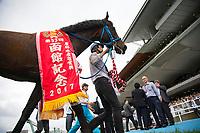 HAKODATE,JAPAN-JULY 16: Luminous Warrior,ridden by Yuichi Shibayama, after winning the Hakodate Kinen at Hakodate Racecourse on July 16,2017 in Hakodate,Hokkaido,Japan (Photo by Kaz Ishida/Eclipse Sportswire/Getty Images)