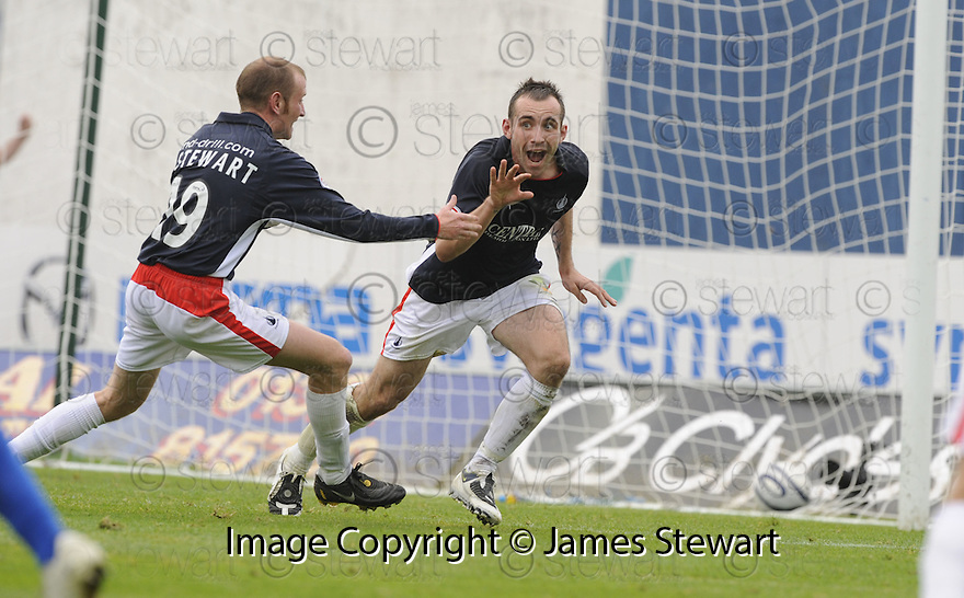 30/08/2008  Copyright Pic: James Stewart.File Name : sct_jspa08_falkirk_v_ict.MARK STEWART CELEBRATES AFTER HE SCORES FALKIRK'S GOAL.James Stewart Photo Agency 19 Carronlea Drive, Falkirk. FK2 8DN      Vat Reg No. 607 6932 25.James Stewart Photo Agency 19 Carronlea Drive, Falkirk. FK2 8DN      Vat Reg No. 607 6932 25.Studio      : +44 (0)1324 611191 .Mobile      : +44 (0)7721 416997.E-mail  :  jim@jspa.co.uk.If you require further information then contact Jim Stewart on any of the numbers above........