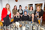 Enjoying the evening in Bella Bia on Thursday.<br /> Seated l to r: Jolene Wallace, Cormac Sertutxa and Clodagh Moynihan.<br /> Back l to r: Dana Cunningham, Elaine Lehane, Saoirse Lawlor, Alazne Sertutxa, Valerie Meehan and Dairíona Ní Mhuirí.