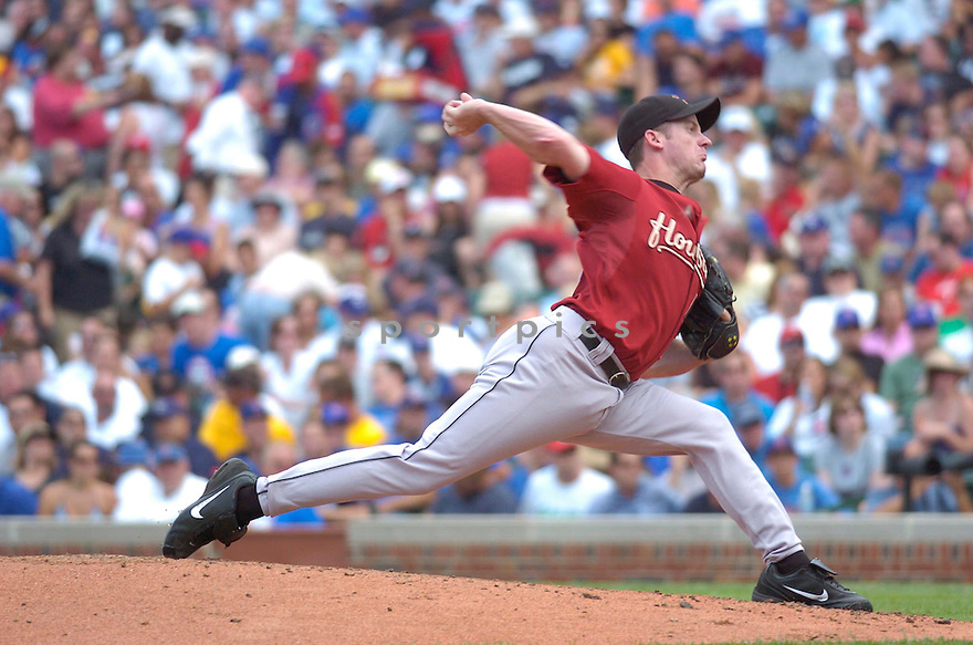 ROY OSWALT, of the Houston Astros  , in action during the Astros  game against the Chicago Cubs  in Chicago, IL  on July 14,  2007...Cubs  win 9-3...CHRIS BERNACCHI/ SPORTPICS.