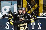 Stockholm 2014-12-01 Ishockey Hockeyallsvenskan AIK - S&ouml;dert&auml;lje SK :  <br /> AIK:s Joakim Hagelin firar sitt 3-1 m&aring;l med Johan Andersson och Dennis Nordstr&ouml;m under matchen mellan AIK och S&ouml;dert&auml;lje SK <br /> (Foto: Kenta J&ouml;nsson) Nyckelord:  AIK Gnaget Hockeyallsvenskan Allsvenskan Hovet Johanneshov Isstadion S&ouml;dert&auml;lje SSK jubel gl&auml;dje lycka glad happy