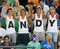 Fans watch Andy Murray (GBR) (1) against David Ferrer (ESP) (7) in the Semi-Finals of the men's singles. Andy Murray beat David Ferrer 4-6 7-6 6-1 7-6..International Tennis - Australian Open  -  Melbourne Park - Melbourne - Day 12 - Fri 28th January 2011..© Frey - AMN Images, Level 1, Barry House, 20-22 Worple Road, London, SW19 4DH.Tel - +44 208 947 0100.Email - Mfrey@advantagemedianet.com.Web - www.amnimages.photshelter.com