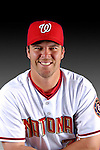 25 February 2007: Washington Nationals catcher Danny Ardoin poses for his Photo Day portrait at Space Coast Stadium in Viera, Florida.<br /> <br /> Mandatory Photo Credit: Ed Wolfstein Photo<br /> <br /> Note: This image is available in a RAW (NEF) File Format - contact Photographer.