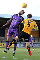 Connell Rawlinson of Port Vale and Greg Taylor of Cambridge United during Cambridge United vs Port Vale, Sky Bet EFL League 2 Football at the Cambs Glass Stadium on 9th February 2019