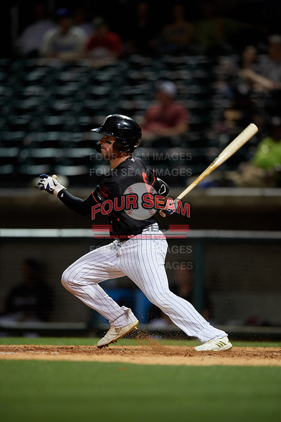 Birmingham Barons Luis Gonzalez (8) at bat during a Southern League game against the Chattanooga Lookouts on May 2, 2019 at Regions Field in Birmingham, Alabama.  Birmingham defeated Chattanooga 4-2.  (Mike Janes/Four Seam Images)