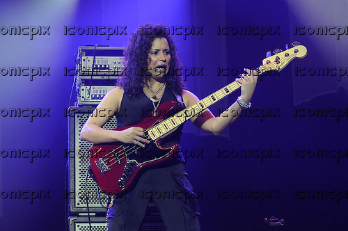 Jeff Beck - bass player Rhonda Smith performing live at the O2 Arena London - 13 Feb 2010.  Photo credit: George Chin / IconicPix