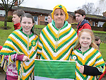 Nikitta Kierans and Bernadette and Chelsea McGuinness pictured at the Drogheda St Patrick's day parade. Photo:Colin Bell/pressphotos.ie
