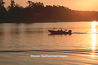 63820-011.10 Fishing at Rend Lake at sunrise    IL