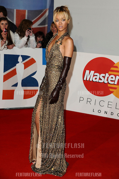 Rihanna arriving for the Brit Awards 2012 at the O2 arena, Greenwich, London. 21/02/2012 Picture by: Steve Vas / Featureflash