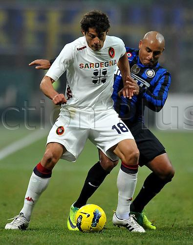 19.11.2011. Milan, Italy.   Jonathan Inter Nene Inter Milan versus Cagliari   Stadio Giuseppe Meazza Series A