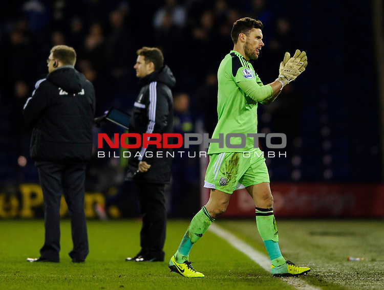 West Brom Goalkeeper Ben Foster claps as he walks off after the game ends in a 1-1 draw -  - 20/01/2014 - SPORT - FOOTBALL - The Hawthorns Stadium - West Bromwich Albion v Everton - Barclays Premier League.<br /> Foto nph / Meredith<br /> <br /> ***** OUT OF UK *****