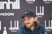 4th October 2017, The Old Course, St Andrews, Scotland; Alfred Dunhill Links Championship, practice round; Tommy Fleetwood speaks to the media after a practice round on the Old Course, St Andrews before the Alfred Dunhill Links Championship