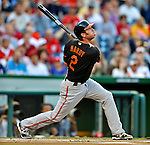 18 May 2012: Baltimore Orioles infielder J. J. Hardy in action against the Washington Nationals at Nationals Park in Washington, DC. The Orioles defeated the Nationals 2-1 in the first game of their 3-game series. Mandatory Credit: Ed Wolfstein Photo