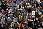 Supporters of ousted Egyptian President Mohammed Morsi take part in a demonstration in support of Morsi in Cairo, on August 9, 2013. Islamist supporters of deposed Egyptian president Mohamed Morsi planned new rallies as the interim premier suggested a crackdown on their protest camps was imminent. Photo by Ahmed Asad