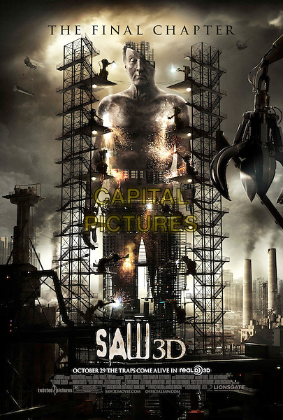 POSTER ART.in Saw 3D .(Saw VII 3D).(Saw: The Final 3D).*Filmstill - Editorial Use Only*.CAP/FB.Supplied by Capital Pictures.