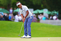 Thongchai Jaidee at the 5th green during the BMW PGA Golf Championship at Wentworth Golf Course, Wentworth Drive, Virginia Water, England on 27 May 2017. Photo by Steve McCarthy/PRiME Media Images.