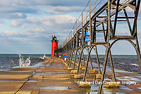 64795-02602 South Haven Lighthouse early morning South Haven,  MI