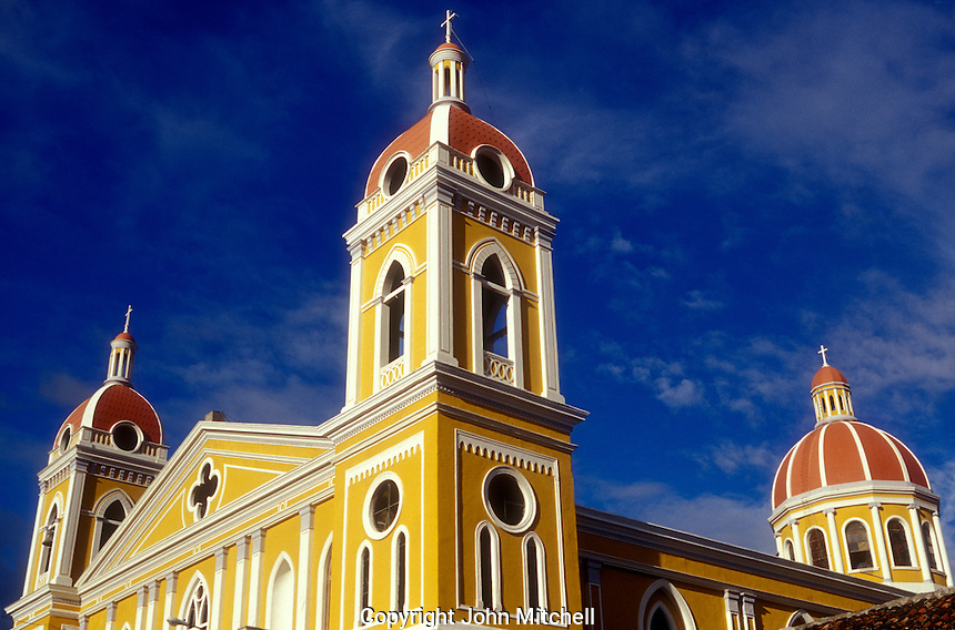 Cathedral in the Spanish colonial city of Granada, Nicaragua