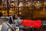 Trevor Joseph readies for a full night in Terminal A at Hartsfield–Jackson Atlanta International Airport, in Atlanta, Georgia on August 28, 2013.