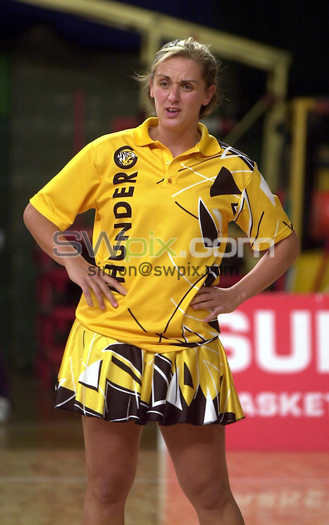 Pix: Matthew Lewis/SWpix.com. Netball. Super Cup 2003. Aston Villa Sports Centre. 17/05/2003...COPYRIGHT PICTURE>>SIMON WILKINSON>>01943 436649>>..Northern Thunder's Tracey Neville.