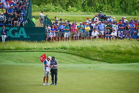 Charley Hoffman (USA) looks over his putt on 6 during Sunday's round 4 of the 117th U.S. Open, at Erin Hills, Erin, Wisconsin. 6/18/2017.<br /> Picture: Golffile | Ken Murray<br /> <br /> <br /> All photo usage must carry mandatory copyright credit (&copy; Golffile | Ken Murray)