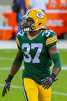Green Bay Packers safety Aaron Taylor (37) during a preseason football game against the Philadelphia Eagles on August 10, 2017 at Lambeau Field in Green Bay, Wisconsin. Green Bay defeated Philadelphia 24-9.  (Brad Krause/Krause Sports Photography)
