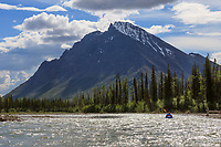 Packrafting the North Fork, Koyukuk River, Gates of the Arctic National Park, Brooks Range, Alaska.