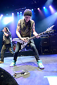 Michael Schenker Group - guitarist Michael Schenker and vocalist Doogie White - performing live on the Temple of Rock Tour at the Empire Shepherds Bush in London UK - 12 May 2012.  Photo credit: George Chin/IconicPix