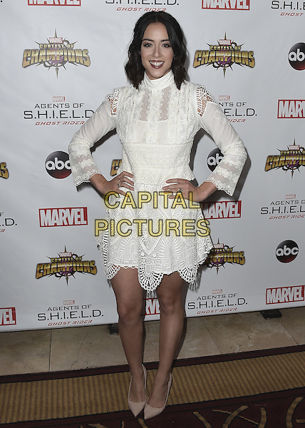 LOS ANGELES, CA - SEPTEMBER 19:  Chloe Bennet at the premiere Of ABC's &quot;Agents Of SHIELD&quot; Season 4 at Pacific Theatres at The Grove on Sunday, September 19, 2016, in Los Angeles, California. <br /> CAP/MPI99<br /> &copy;MPI99/Capital Pictures
