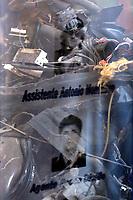 Roma 24/01/2018. Galleria Colonna. Inaugurazione dell'esposizione della teca che custodisce i resti dell'auto Croma blindata su cui viaggiavano gli uomini della scorta di Giovanni Falcone<br /> Rome January 24th 2018. Galleria Colonna. Exposition of magistrate Giovanni Falcone's security escort car, an armored Croma, blown up during the 1992 mafia attempt in Palermo, Sicily.<br /> Foto Samantha Zucchi Insidefoto