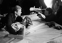 """Ken Heyman directing Roger Moore on the set of """"The Spy Who Loved Me."""""""