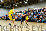 Daire Kennelly (14) Mercy Mounthawk in action against  CBS The Green U19 A Boys Subway Schools Cup semi final at Tralee Sports Complex on Thursday.