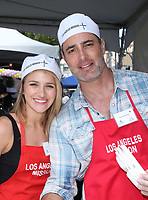 LOS ANGELES, CA - April 14: Shatel VanSanten, Victor H. Webster, At Los Angeles Mission's Easter Celebration For The Homeless At Los Angeles Mission  In California on April 14, 2017. <br /> CAP/MPI/FS<br /> &copy;FS/MPI/Capital Pictures