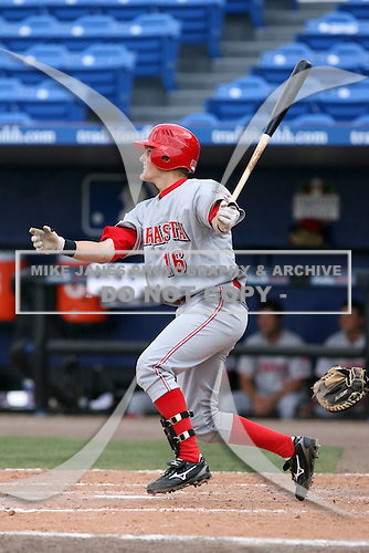 April 12, 2009:  Shortstop Alex Buchholz (16) of the Sarasota Reds Florida State League Class-A affiliate of the Cincinnati Reds, during a game at Tradition Field in St. Lucie, FL.  Photo by:  Mike Janes/Four Seam Images