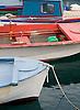 Boats in the fishing village of Perdika on Aegina Island, Greece. Photo by Kevin J. Miyazaki/Redux