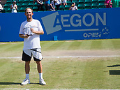 June 18th 2017, Nottingham, England; ATP Aegon Nottingham Open Tennis Tournament day 7 finals day;  Dudi Sela of Israel, winner of the men's singles final