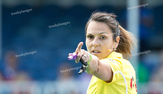 27/06/2015<br /> HWL Semi Final Antwerp Belgium 2015<br /> New Zealand v Belgium Women<br /> Umpire Melissa Trivic<br /> Photo: Grant Treeby