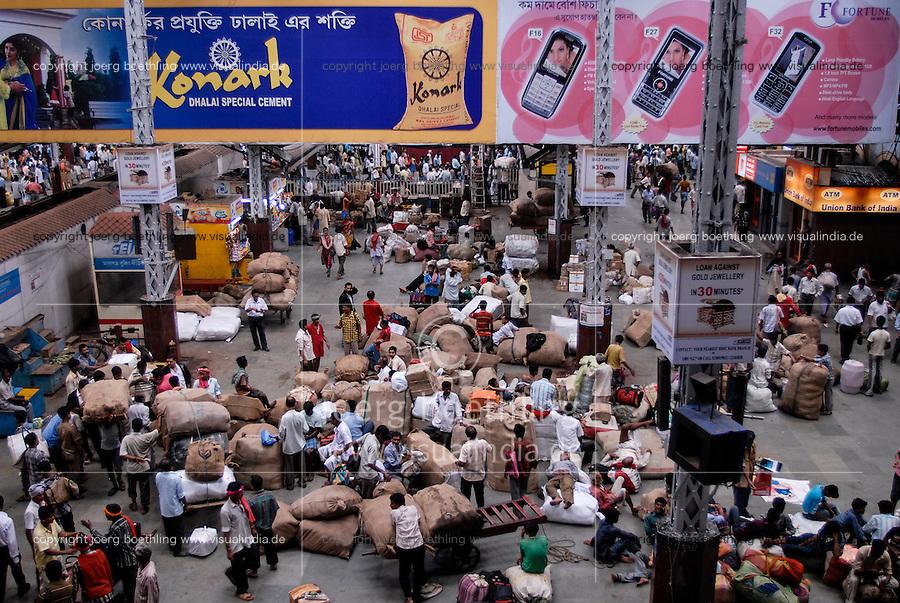 INDIA Westbengal Calcutta Kolkata, railway station Howrah / INDIEN Westbengalen, Kalkutta, Bahnhof Howrah