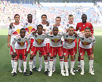 Starting eleven of the New York RedBulls during a MLS match against the Philadelphia Union on April 24 2010, at RedBull Arena, in Harrison, New Jersey. RedBulls won 2-1.
