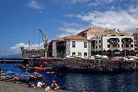 The harbour of Puerto de la Cruz,Tenerife, Canary Islands, Spain