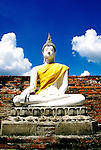Thailand, Buddha at Wat Yai Chai Mongkol, Ayuthaya, photo: thaila101  .Photo copyright Lee Foster, www.fostertravel.com, 510/549-2202, lee@fostertravel.com