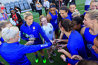 Los Angeles, CA - Saturday April 06, 2019: The U.S. Women's national team with Make A Wish foundation during open public training session at Banc of California Stadium.
