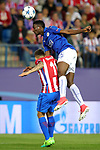 Atletico de Madrid's Angel Correa (l) and Leicester City FC's Wilfred Ndidi during Champions League 2016/2017 Quarter-finals 1st leg match. April 12,2017. (ALTERPHOTOS/Acero)