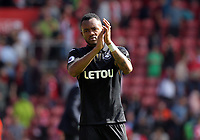 Leroy Fer of Swansea City thanks away supporters at the end of the game during the Premier League match between Southampton and Swansea City at the St Mary's Stadium, Southampton, England, UK. Saturday 12 August 2017