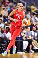 Washington, DC - August 12, 2018: Washington Mystics All-Star guard Elena Delle Donne (11) brings the ball up court during game between the Washington Mystics and the Dallas Wings at the Capital One Arena in Washington, DC. (Photo by Phil Peters/Media Images International)