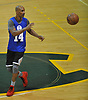 Zach Marbury, brother of former NBA player Stephon Marbury, plays in a Long Island Nets open tryout at LIU Post's Pratt Center in Brookville, NY on Saturday, Sept. 30, 2017.
