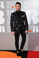 Jonas Blue at the 2017 Brit Awards at the O2 Arena in London, UK. <br /> 22 February  2017<br /> Picture: Steve Vas/Featureflash/SilverHub 0208 004 5359 sales@silverhubmedia.com
