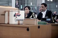 Roma,9 Dicembre 2015<br /> Aula bunker di Rebibbia.<br /> Ippolita Naso e scatoloni dei Carabinieri<br /> Nuova udienza del processo Mafia Capitale, in Aula la discussione sulle perizie riguardo le intercettazioni.