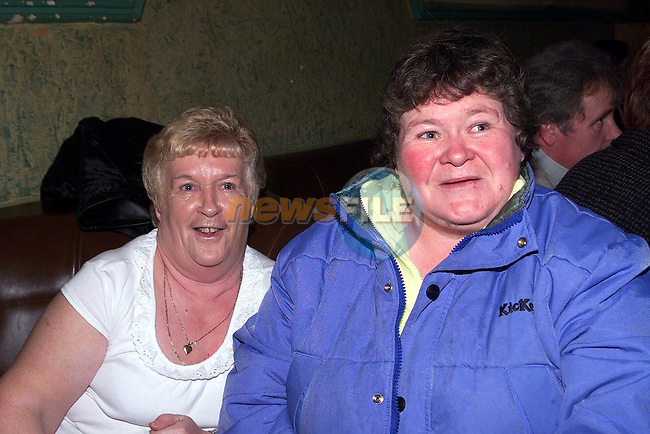Maureen Reilly and Rose Lynch enjoying a night out in The Greyhound, Duleek..Picture Paul Mohan Newsfile